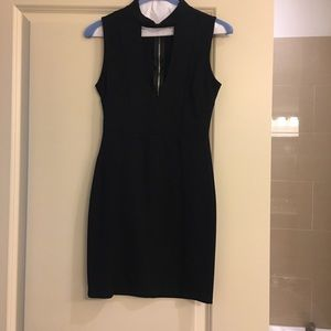 Form fitting black dress like new!